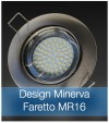 Corpo Faretto Satinato con Faretto MR16 7.5W - Design MINERVA