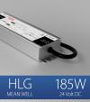 Alimentatore Meanwell HLG-185H-24 24V 185W  Resistente all'acqua - Versione Standard, A e B