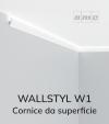 Cornice NMC WALLSTYL W1 Led in Polistirene per Illuminazione LED - 2 Metri + Profilo THIN per LED