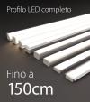 Profilo LED Completo per Illuminazione Dimmerabile - da 120cm a 150cm - Personalizzabile