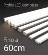Profilo LED Completo per Illuminazione Dimmerabile - da 45cm a 60cm - Personalizzabile
