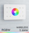 Controller RGBW Touch da Parete Wireless - per strisce LED - Bianco o Nero