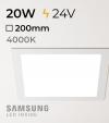 Faretto da Incasso Quadrato Slim 20W BIANCO NATURALE - Downlight - LED Samsung