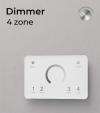 Dimmer Touch da Parete - 4 Zone + Centraline
