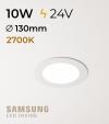 Faretto da Incasso Rotondo Slim 10W LUCE CALDA - Downlight - LED Samsung