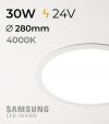 Faretto da Incasso Rotondo Slim 30W BIANCO NATURALE - Downlight - LED Samsung