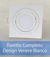 Faretto completo Bianco con PCB SAMSUNG 9W - Design VENERE - Dimmerabile - Made In Italy
