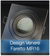 Corpo Faretto Satinato con Faretto MR16 7.5W - Design VENERE