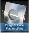 Corpo Faretto Satinato con Faretto MR16 7.5W - Design VULCANO