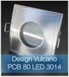 Faretto completo Satinato con PCB 11W - Design VULCANO - Dimmerabile - Made In Italy