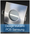 Faretto completo Satinato con PCB SAMSUNG 9W - Design VULCANO - Dimmerabile - Made In Italy