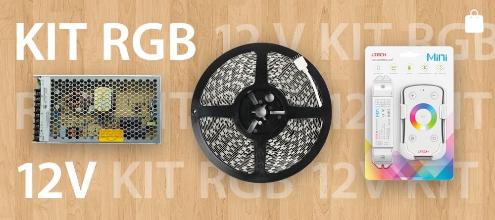 KIT Strisce LED RGB 12V